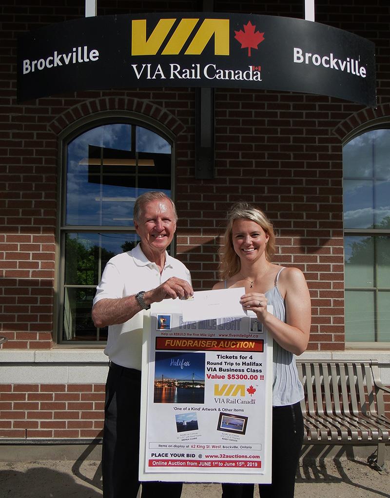VIA Rail Canada Halifax package winning bidder, Erin Johnson and Bob Runciman