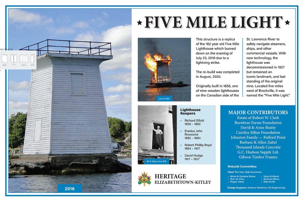 Five Mile Light plaque